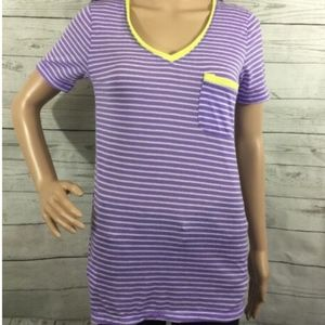 Grane T-Shirt Small Semi-Sheer Striped Tee